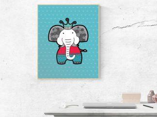 DIY A3-Elephant-Frame-Wall