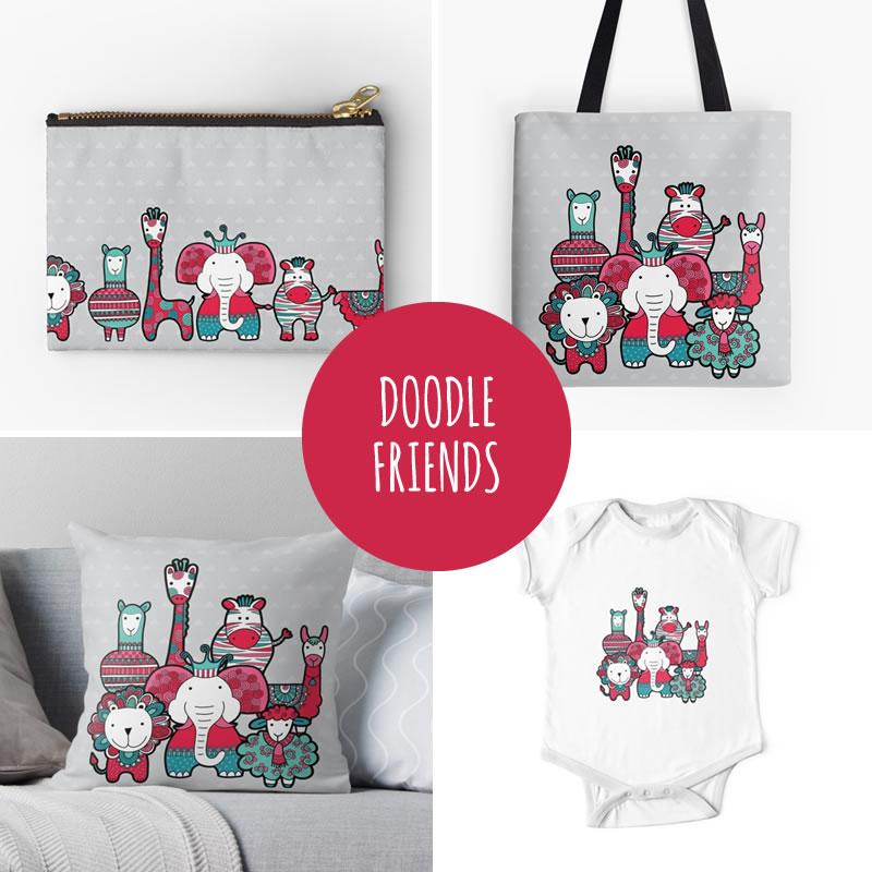 DIY doodle friends