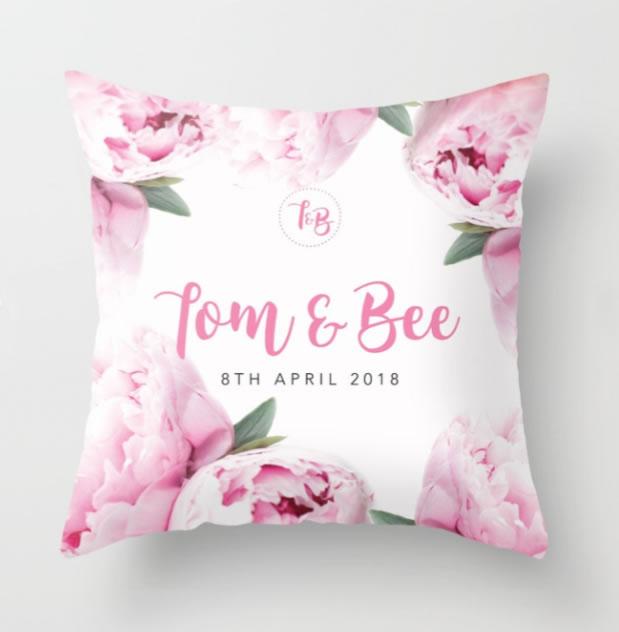 DIY custom wedding cushion